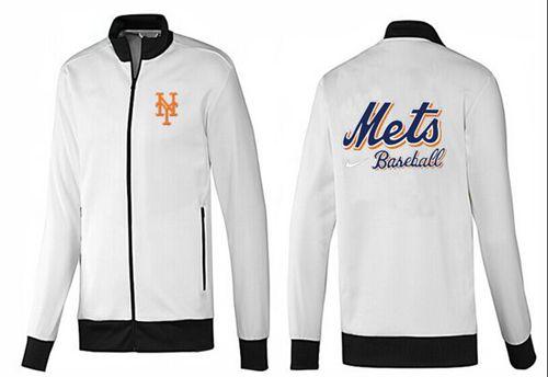 MLB New York Mets Zip Jacket White_4