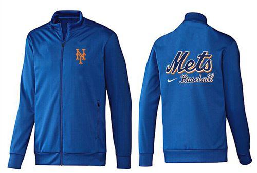 MLB New York Mets Zip Jacket Blue_3