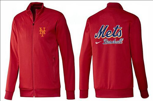 MLB New York Mets Zip Jacket Red