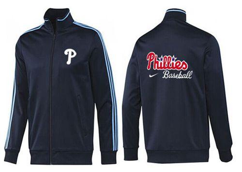 MLB Philadelphia Phillies Zip Jacket Dark Blue
