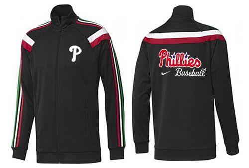 MLB Philadelphia Phillies Zip Jacket Black_1