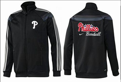 MLB Philadelphia Phillies Zip Jacket Black_2