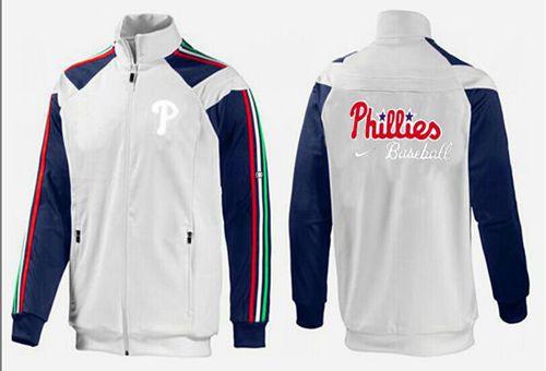 MLB Philadelphia Phillies Zip Jacket White_1