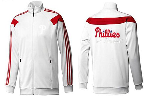 MLB Philadelphia Phillies Zip Jacket White_2