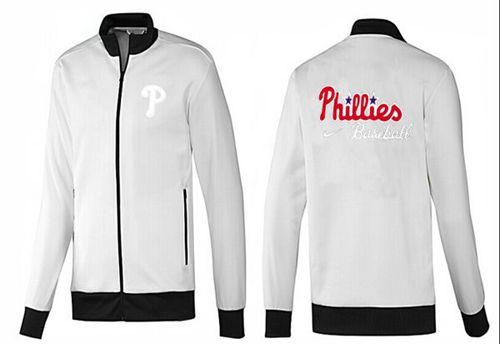 MLB Philadelphia Phillies Zip Jacket White_3