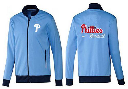 MLB Philadelphia Phillies Zip Jacket Light Blue