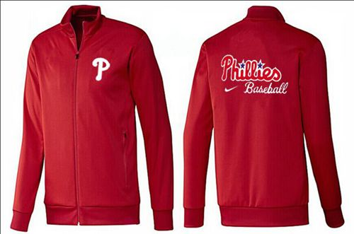 MLB Philadelphia Phillies Zip Jacket Red
