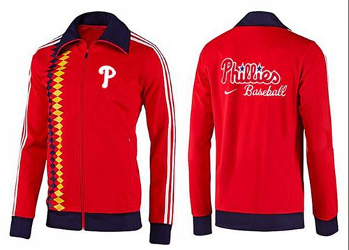 MLB Philadelphia Phillies Zip Jacket Orange