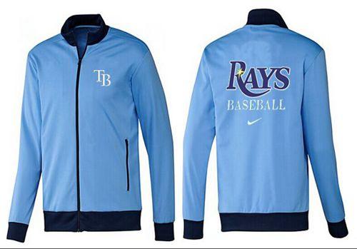 MLB Tampa Bay Rays Zip Jacket Light Blue
