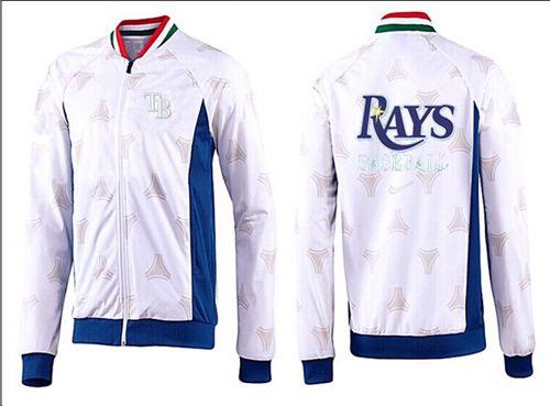 MLB Tampa Bay Rays Zip Jacket White_4