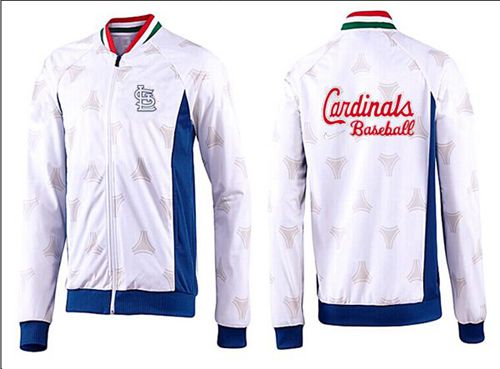 MLB St.Louis Cardinals Zip Jacket White_2