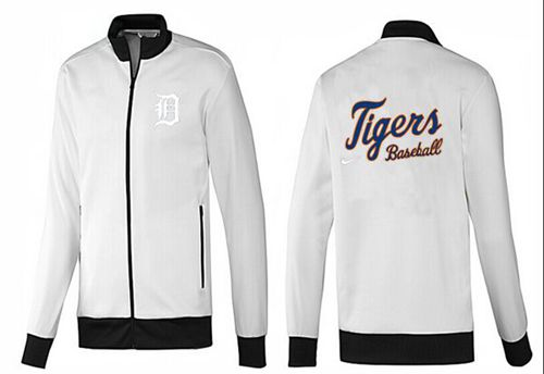 MLB Detroit Tigers Zip Jacket White_1