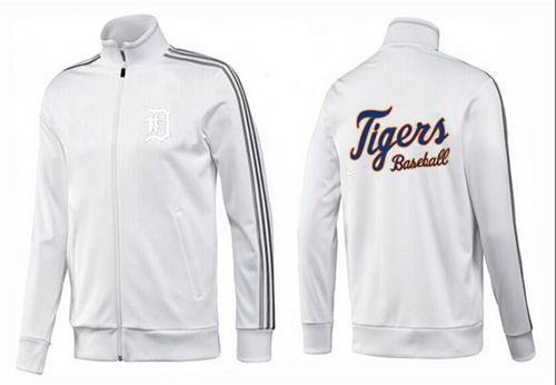 MLB Detroit Tigers Zip Jacket White_2