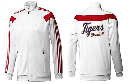 MLB Detroit Tigers Zip Jacket White_3