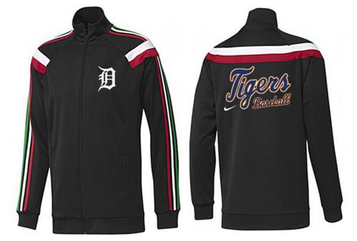 MLB Detroit Tigers Zip Jacket Black_1