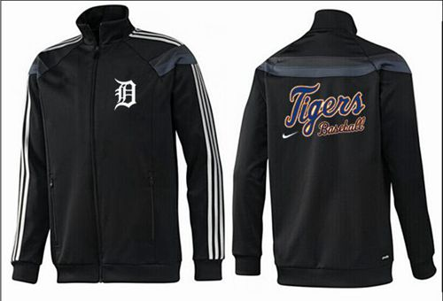 MLB Detroit Tigers Zip Jacket Black_2
