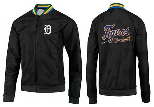 MLB Detroit Tigers Zip Jacket Black_3