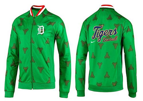 MLB Detroit Tigers Zip Jacket Green
