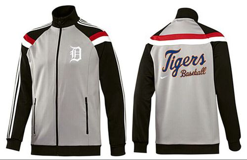 MLB Detroit Tigers Zip Jacket Grey
