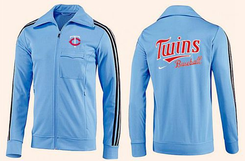 MLB Minnesota Twins Zip Jacket Light Blue