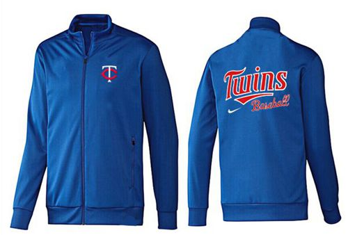MLB Minnesota Twins Zip Jacket Blue_1