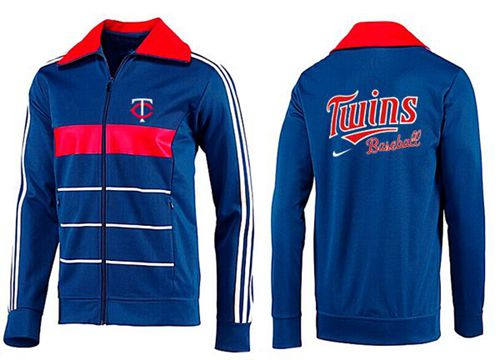 MLB Minnesota Twins Zip Jacket Blue_2