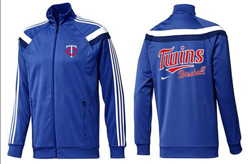 MLB Minnesota Twins Zip Jacket Blue_3