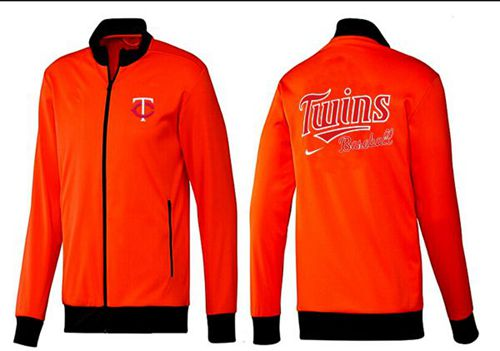 MLB Minnesota Twins Zip Jacket Orange