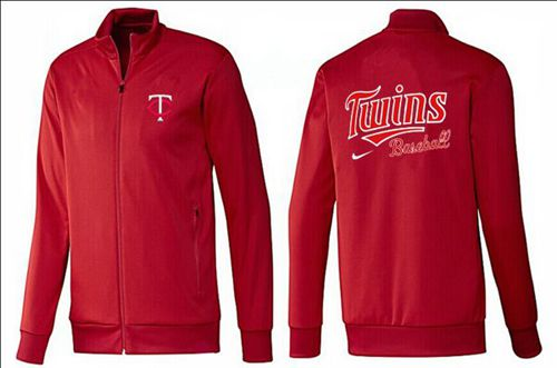 MLB Minnesota Twins Zip Jacket Red