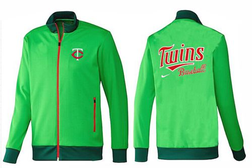 MLB Minnesota Twins Zip Jacket Green