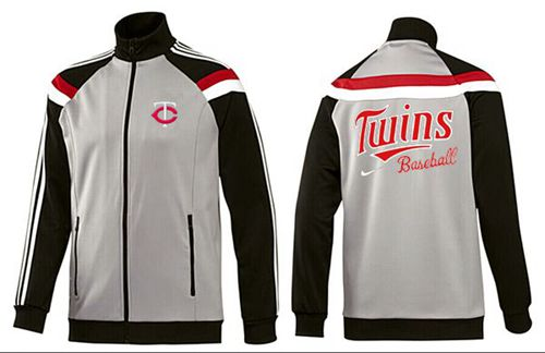 MLB Minnesota Twins Zip Jacket Grey