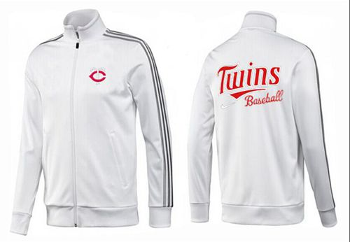 MLB Minnesota Twins Zip Jacket White_1