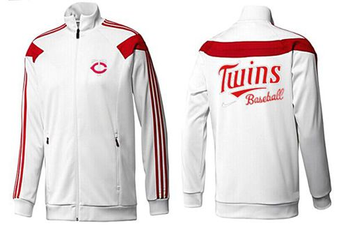 MLB Minnesota Twins Zip Jacket White_2