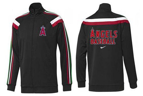 MLB Los Angeles Angels Zip Jacket Black_1