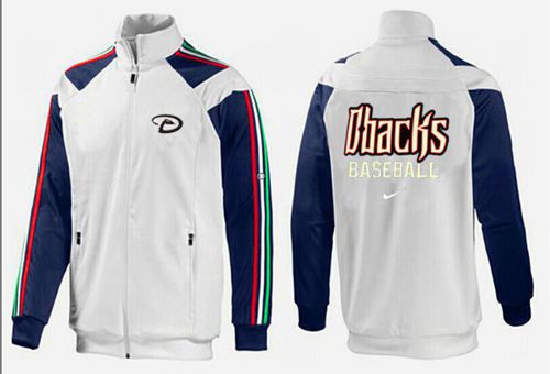 MLB Arizona Diamondbacks Zip Jacket White_1