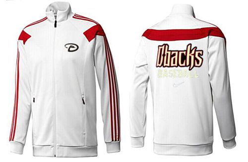 MLB Arizona Diamondbacks Zip Jacket White_2