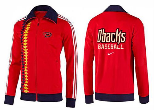 MLB Arizona Diamondbacks Zip Jacket Orange_1