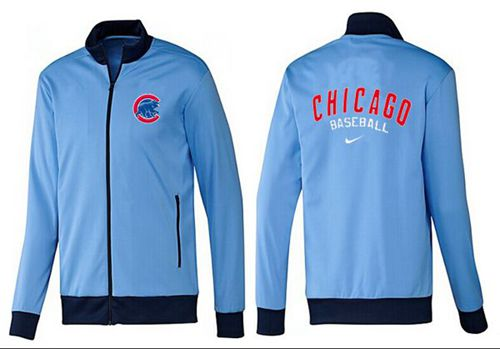 MLB Chicago Cubs Zip Jacket Light Blue