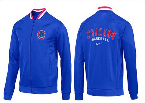 MLB Chicago Cubs Zip Jacket Blue_1