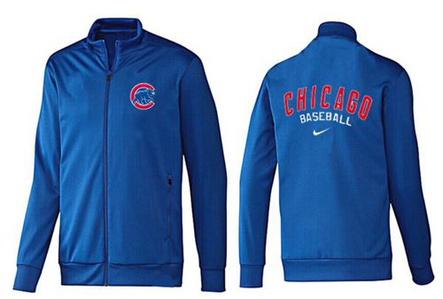 MLB Chicago Cubs Zip Jacket Blue_2