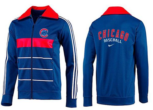 MLB Chicago Cubs Zip Jacket Blue_3