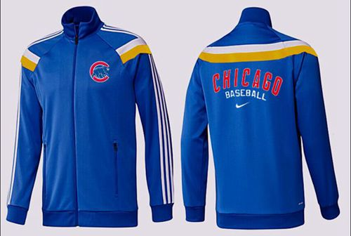 MLB Chicago Cubs Zip Jacket Blue_4