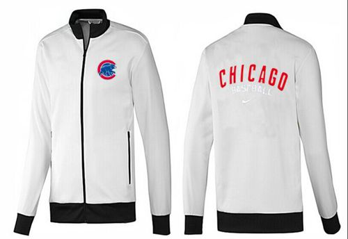 MLB Chicago Cubs Zip Jacket White_1