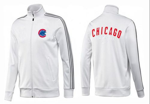 MLB Chicago Cubs Zip Jacket White_2