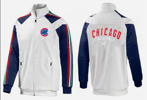 MLB Chicago Cubs Zip Jacket White_3