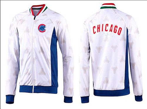 MLB Chicago Cubs Zip Jacket White_4