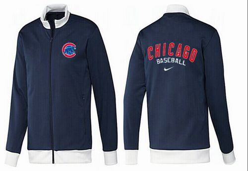 MLB Chicago Cubs Zip Jacket Dark Blue_1