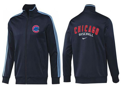 MLB Chicago Cubs Zip Jacket Dark Blue_2