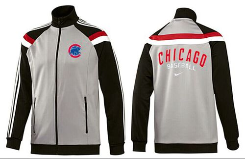 MLB Chicago Cubs Zip Jacket Grey