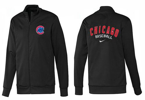 MLB Chicago Cubs Zip Jacket Black
